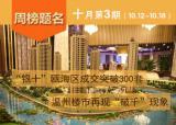 """(10.12-10.18)""""银十""""瓯海区成交突破300套,温州楼市再现""""破千""""现象"""